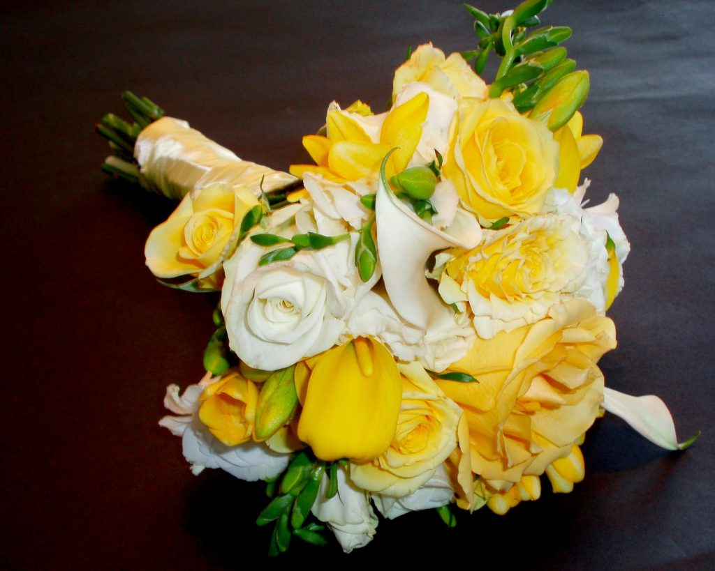 Yellow Rose Bridesmaids Bouquet